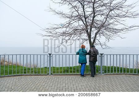 Close up portrait couple in winter. romance couple, winter casual clothes
