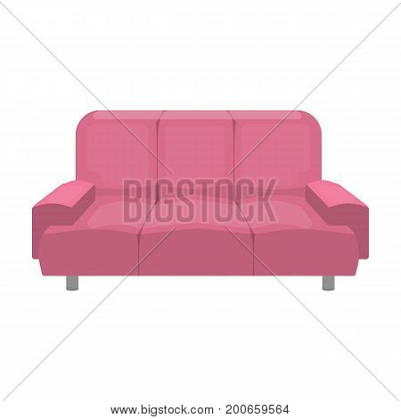 Soft, stylish and comfortable sofa. Furniture single icon in cartoon style Isometric vector symbol stock illustration .