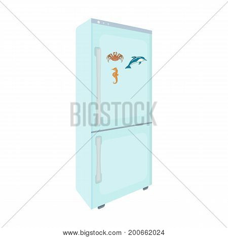 Refrigerator, single icon in cartoon style.Refrigerator vector symbol stock illustration .