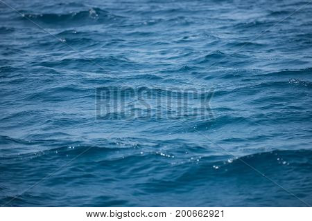 Travel vacation and sea voyage concept. Abstract marine background. Sea or ocean blue water. Seascape natural water wallpaper.