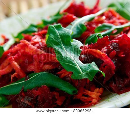 Shredded Beet  And Carrot Salad.