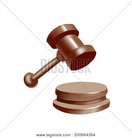wooden brown hammer for judge in court