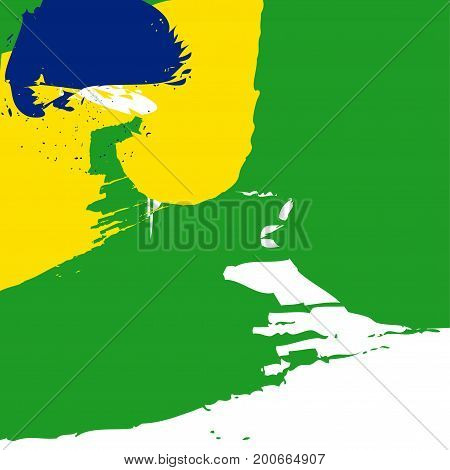 Vector Illustration for Seventh of September The Independence Day of Brazil. Background with a space for text made in colors of the Flag of Brazil. Great as poster template for The Independence Day.