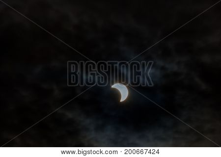 Solar Eclipse, New York Ny August 21 2017