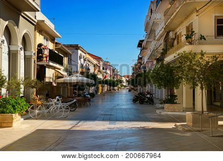 The island of Zakynthos, Greece, The city of Zakynthos. The capital of the island. Siesta time