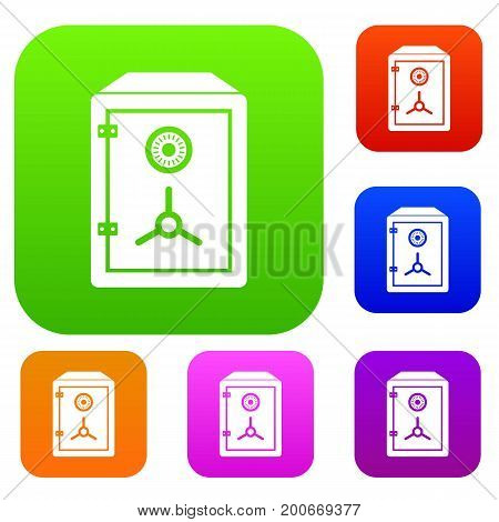 Safe set icon in different colors isolated vector illustration. Premium collection