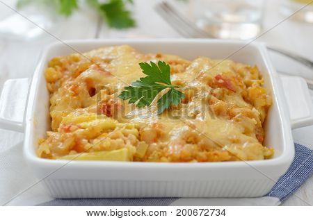 Close up of  vegetable casserole
