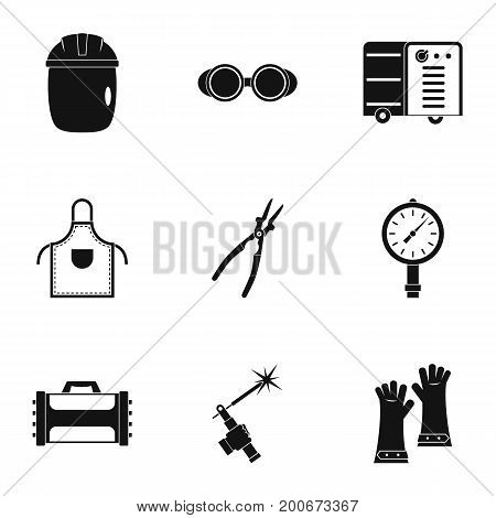 Welder construction icon set. Simple set of 9 welder construction vector icons for web isolated on white background