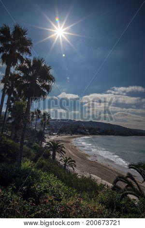 View Of The Sun Over Main Beach, Laguna Beach