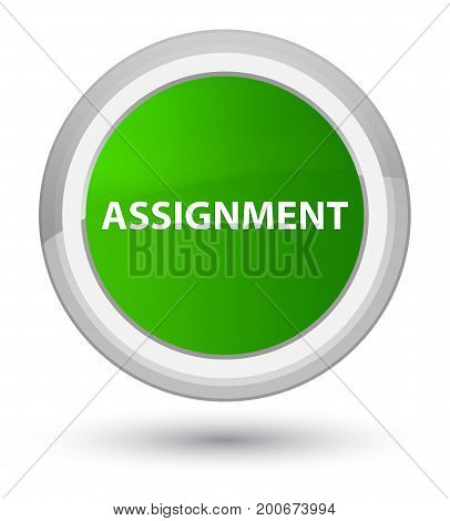 Assignment Prime Green Round Button