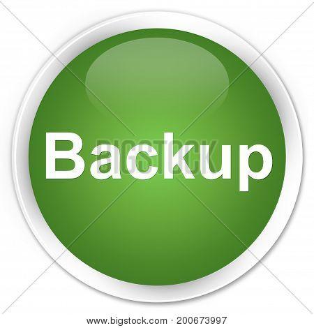 Backup Premium Soft Green Round Button