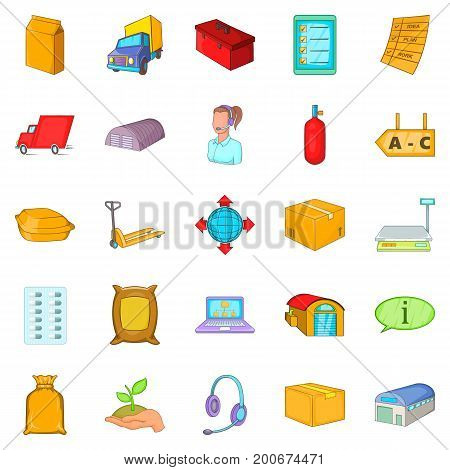 Fund icons set. Cartoon set of 25 fund vector icons for web isolated on white background