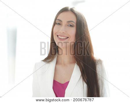 portrait of friendly business woman