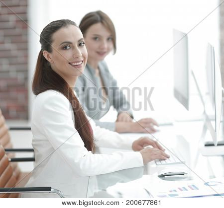 employee of the company working at their workplace
