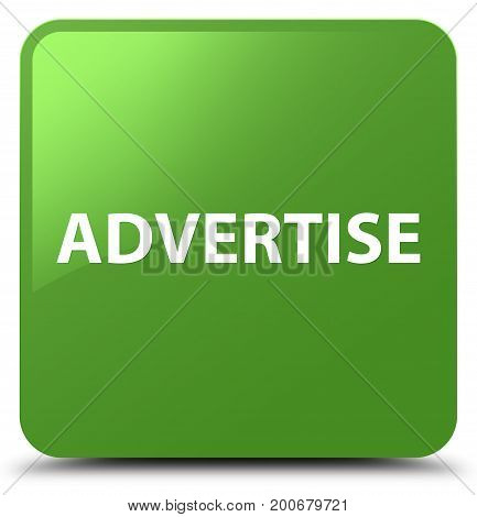Advertise Soft Green Square Button