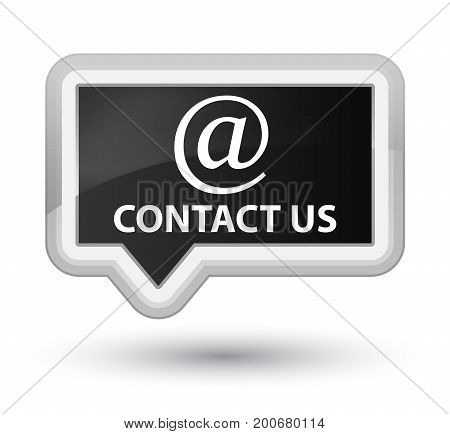 Contact Us (email Address Icon) Prime Black Banner Button