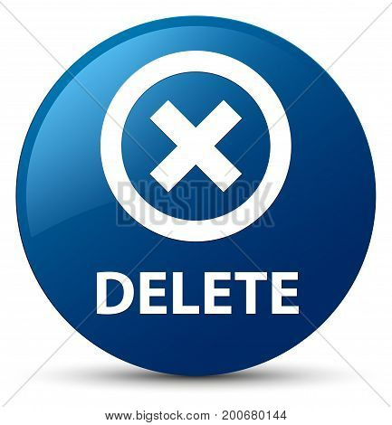 Delete Blue Round Button