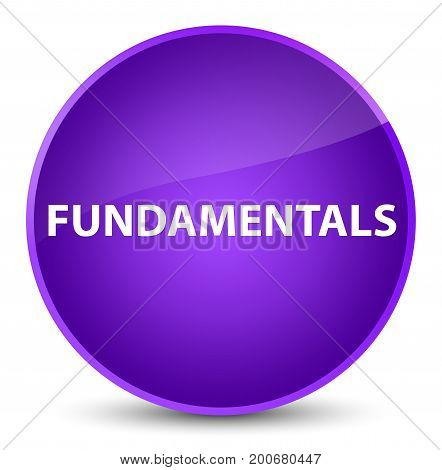 Fundamentals isolated on elegant purple round button abstract illustration