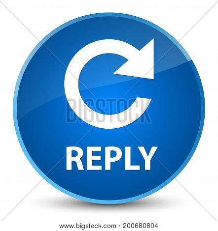 Reply (rotate Arrow Icon) Elegant Blue Round Button