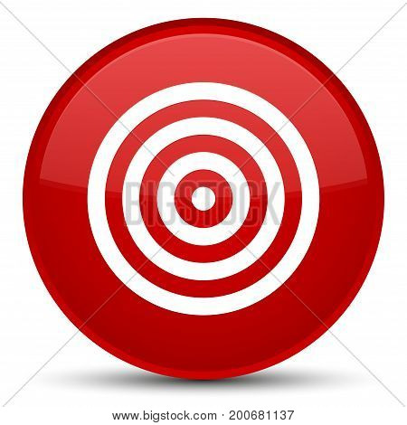 Target Icon Special Red Round Button