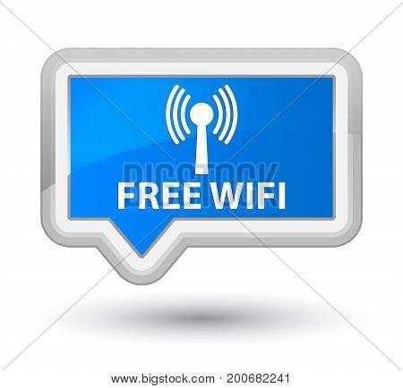 Free Wifi (wlan Network) Prime Cyan Blue Banner Button