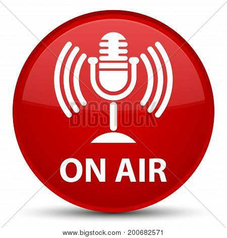 On Air (mic Icon) Special Red Round Button