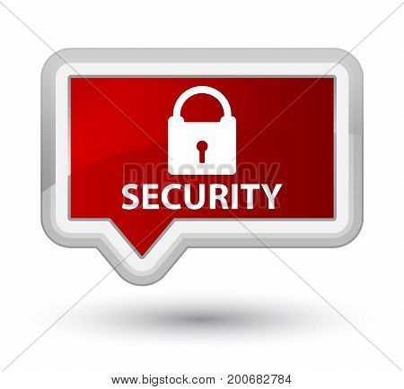 Security (padlock Icon) Prime Red Banner Button