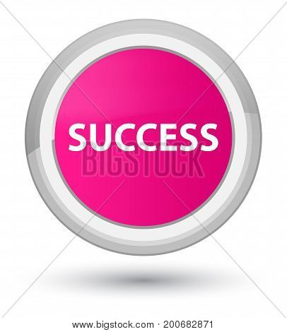 Success Prime Pink Round Button