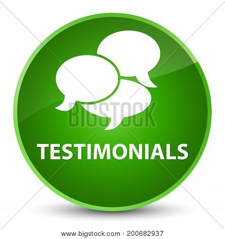Testimonials (comments Icon) Elegant Green Round Button