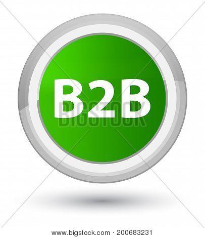B2B Prime Green Round Button