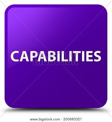 Capabilities Purple Square Button