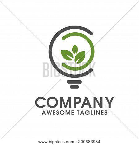green innovative logo vector,Green concept, geometric design Eco leaf. Vector