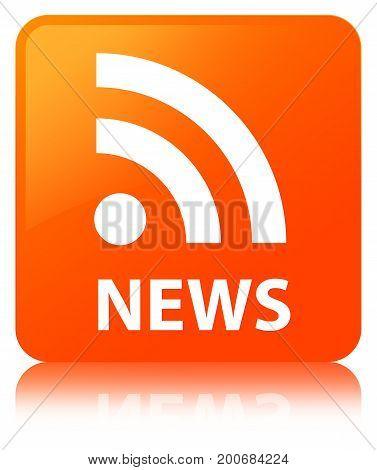 News (rss Icon) Orange Square Button