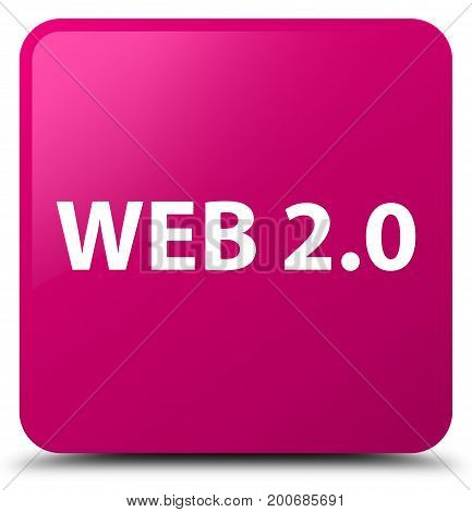 Web 2.0 Pink Square Button