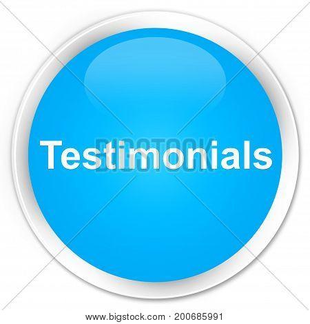 Testimonials Premium Cyan Blue Round Button