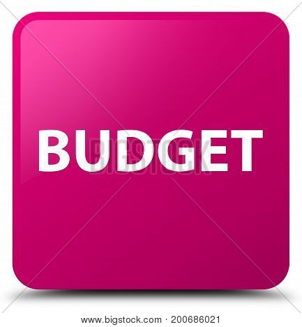 Budget Pink Square Button