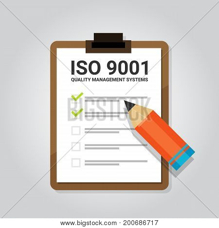 ISO 9001 quality management systems certification standard international compliance task check list target vector