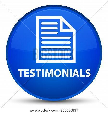 Testimonials (page Icon) Special Blue Round Button