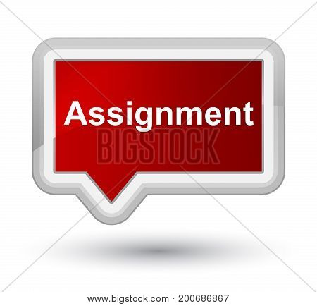 Assignment Prime Red Banner Button