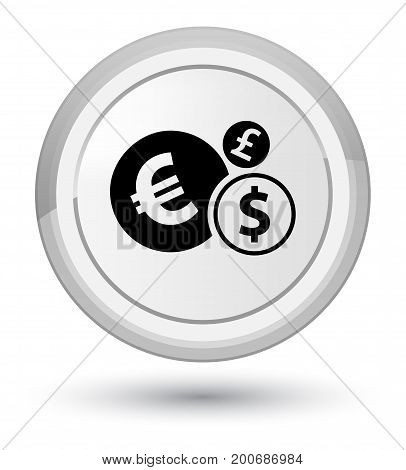 Finances Icon Prime White Round Button