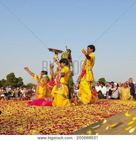Folk Dance In Pushkar, India