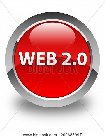 Web 2.0 Glossy Red Round Button