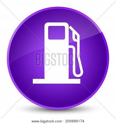 Fuel Dispenser Icon Elegant Purple Round Button