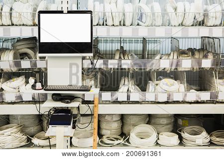 System for inventory of products in hardware store.