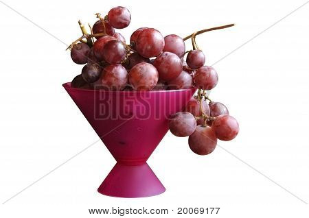 Grape Branch In A Vase