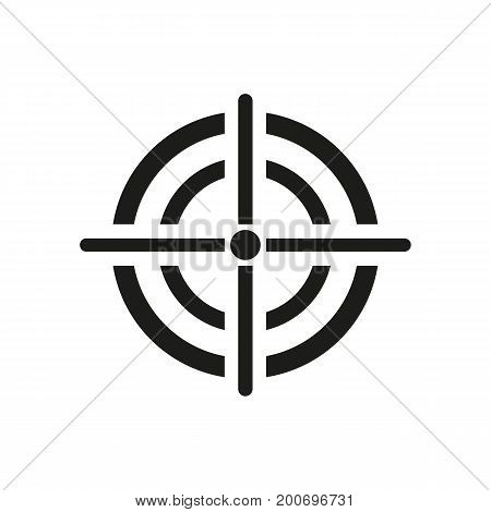 Simple icon of target. Objective, dartboard, shooting club. Police concept. Can be used for topics like business, entertainment, competition