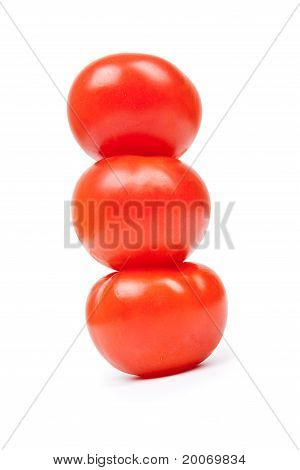 Some Red Tomatos In Group