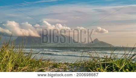 Cape Town South Africa (view from Bloubergstrand with Table Mountain)