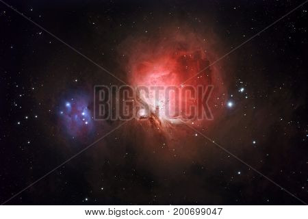 The great nebula in Orion (image taken with amateur apochromatic refractor)