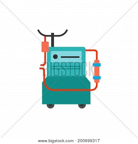 Icon of dialysis machine. Medical equipment, filtering, procedure. Medical devices concept. Can be used for topics like kidney failure, clinic, treatment